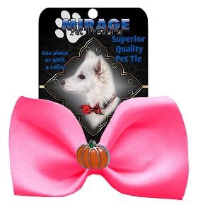 Pumpkin Widget Pet Bowtie Hot Pink